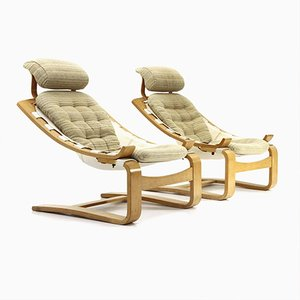 Kroken Armchairs by Ake Fribytter for Nelo Möbel, 1970s, Set of 2