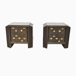 Rosewood Chest of Drawers in the Style of Luciano Frigerio, 1970s, Set of 2
