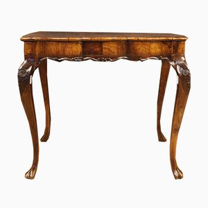 Venetian Table Inlaid in Walnut, Burl Maple & Beech, 1960s