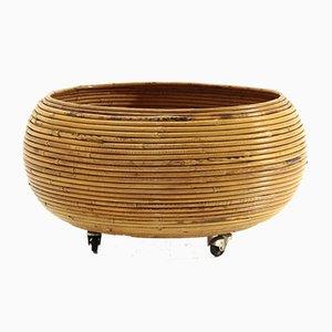 Rattan Vase Holder Basket, 1970s