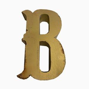 Vintage Metal Letter B Sign