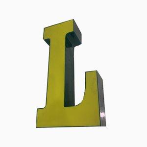 Vintage Plexiglas Letter L Sign