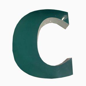 Vintage Plexiglas Letter C Sign