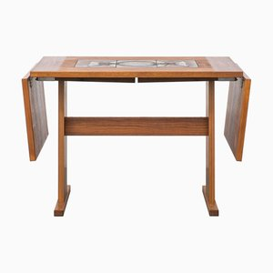 Extendable Teak and Ceramic Dining Table from Gangsø Møbler, 1970s