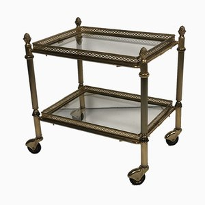 Glass and Brass Kitchen Trolley, 1970s