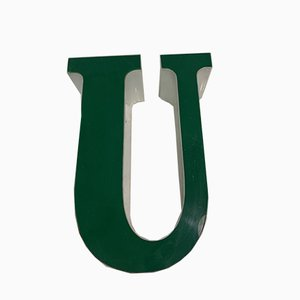 Vintage Plexiglas Letter U Sign