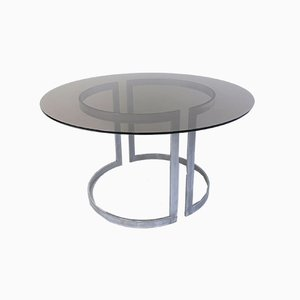 Glass Dining Table by Boris Tabacoff for Roche Bobois, 1970s