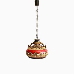 Vintage Italian Ceramic San Marino Vulcano Ceiling Lamp, 1960s