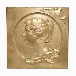Art Nouveau Bronze Panel by Chomsen