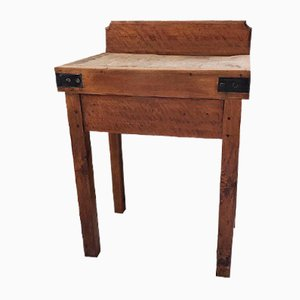 Antique Beech Square Table, 1900s