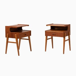 Scandinavian Modern Swedish Teak Nightstands, 1960s, Set of 2