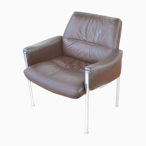 Mid-Century Leather Lounge Chair by Miller Borgsen for Röder und Söhne, 1960s