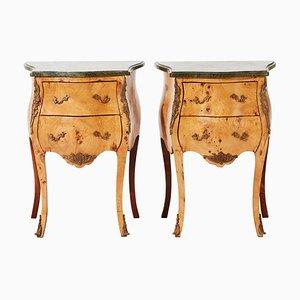 Vintage Rococo Bedside Tables, Set of 2