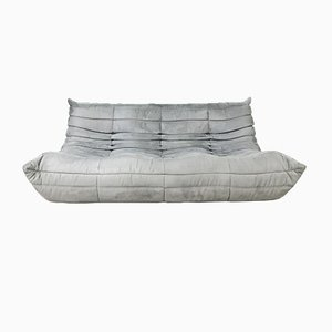 Mid-Century Gray 3-Seater Sofa by Michel Ducaroy for Ligne Roset