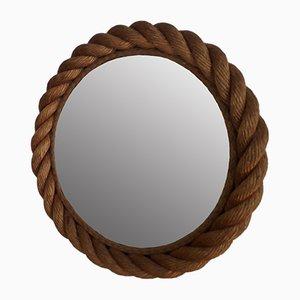 Round Rope Mirror by Adrien Audoux & Frida Minet, 1950s