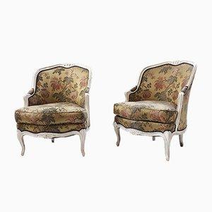 Antike Louis XV Armlehnstühle, 2er Set