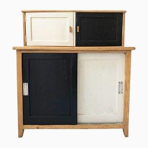Mid-Century Bicolor Sliding Door Cabinet, 1960s