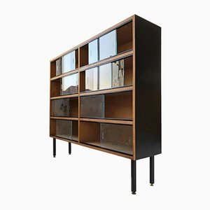 Mid-Century Sliding Door Wall Unit, 1950s