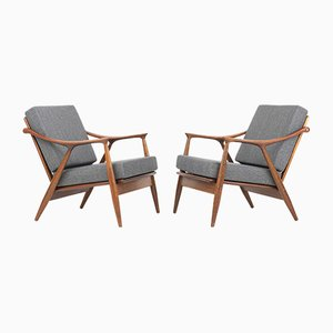 Model 563 Armchairs by Fredrik A. Kayser for Vatne Møbler, 1950s, Set of 2