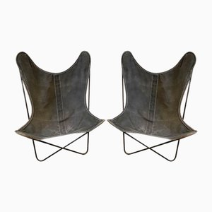 Butterfly AA Chairs by Jorge Ferrari-Hardoy, Antonio Bonet & Juan Kurchan for Knoll & Airborne, 1950s, Set of 2