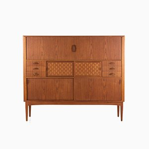 Danish Teak Highboard by Johannes Andersen for Uldum Møbelfabrik, 1960s