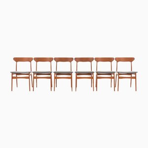 Teak Dining Chairs by Schiønning & Elgaard for Randers Møbelfabrik, 1960s, Set of 6