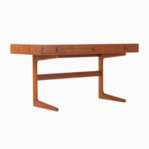 Danish Modern Cantilever Floating Desk by Georg Petersens, 1960s