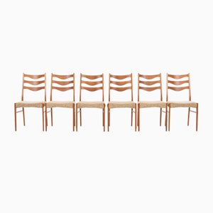 Teak Dining Chairs by Arne Wahl Iversen for Glyngøre, 1960s, Set of 6
