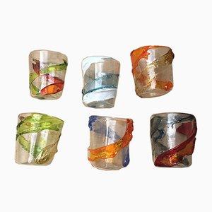 Murano Goto Water Glasses by Murrisa for Italian Light Design, Set of 6