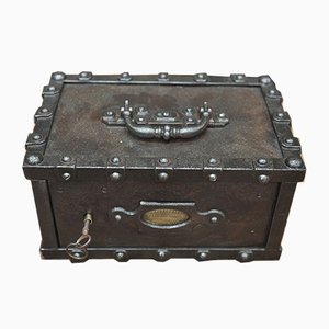 Small Antique Safe from Bauche, 1900s