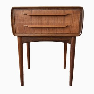 Teak and Veneer Nightstand by Johannes Andersen for CFC Silkeborg, 1950s