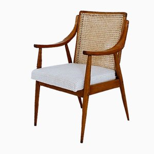 Mid-Century Hungarian Cane Back Armchair, 1960s