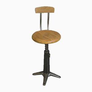 Vintage Industrial Stool from Singer, 1920s