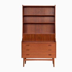 Mid-Century Danish Bookshelf Secretaire in Teak from Nexø, 1960s
