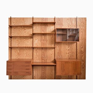 Mid-Century Wall System in Teak by Kai Kristiansen for FM Denmark, 1960s