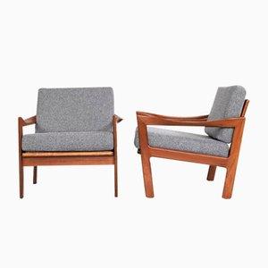 Mid-Century Easy Chairs in Teak by Illum Wikkelsø for Eilersen, Set of 2