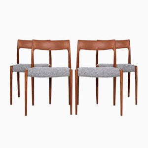 Mid-Century Danish Chairs by Niels Otto Møller for JL Møllers Møbelfabrik, Set of 4