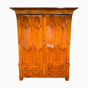 Large Biedermeier Armoire in Cherry Veneer, Rhineland, Germany, 1820s
