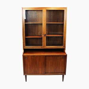 Danish Rosewood Cabinet with Glass Doors, 1960s