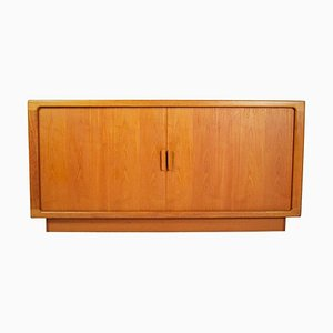 Danish Sideboard with Teak Organic Tambour Doors from Dyrlund, 1960s