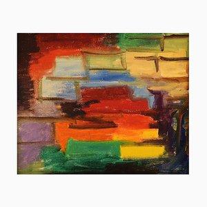Schwedische Öl auf Leinwand Moderne Komposition von Gösta Emming, 1960er
