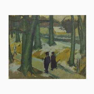 Oil on Canvas Modernist Forest Motif by Alexander Klingspor, 1936