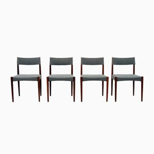 Dutch Rosewood Dining Chairs by Aksel Bender Madsen for Bovenkamp, 1960s, Set of 4