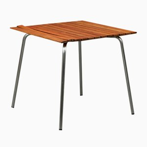 S1040 Garden Table with Iroko Wood & Stainless Steel from Thonet, 2000s
