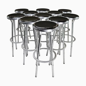 Spanish Industrial Barstool in Aluminum by Joan Casas Y Ortinez for Indecasa, 1980s