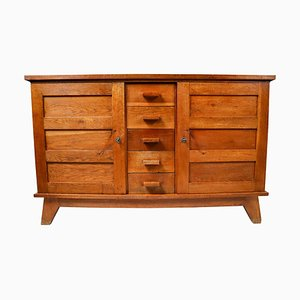 Mid-Century Patinated Oak Sideboard by René Gabriel, France, 1950s