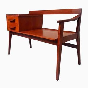 Mid-Century Danish Teak Telephone Bench