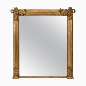 Antique Gilded Overmantle Mirror, 1820s