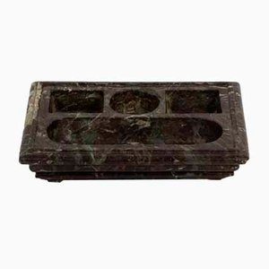 18th Century Inkwell in Red and Green Levanto Marble