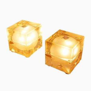 Lampes de Bureau Cubo Sfera Vertes par Allessandro Mendini, 1968, Set de 2